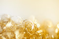 Gold twinkle christmas background golden detail Royalty Free Stock Image