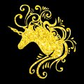 Gold unicorn head eps unicorn vector fantasy unicorn glitter unicorns silhouette unicorn clipart unicorn art clip unicorn design Royalty Free Stock Photo