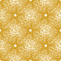 Gold vector seamless pattern with bright firework flowers. Seamless texture for web, print, wallpaper, wrapping, home decor, fashi Royalty Free Stock Photo