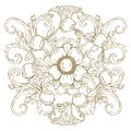 Gold vintage baroque ornament retro antique style acanthus. Decorative design element filigree .