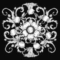 Gold vintage baroque ornament retro antique style acanthus. Decorative design element filigree .
