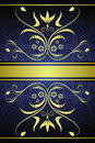 Gold vintage floral background Royalty Free Stock Photo
