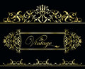 Gold vintage frame Stock Photography