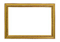 Gold vintage frame. Elegant vintage gold/gilded picture frame Royalty Free Stock Photo