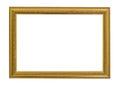 Gold vintage frame. Elegant vintage gold/gilded picture frame Royalty Free Stock Photo