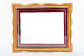 Gold vintage frame elegant vintage gold gilded picture frame wi with beading isolated on white Stock Photo