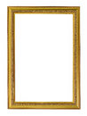 Gold vintage frame. Elegant vintage gold/gilded picture frame wi Royalty Free Stock Photo