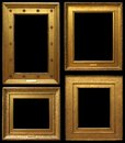 Gold vintage frames picture isolated on black background Royalty Free Stock Photo