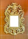 Gold Vintage Mirror Isolated O...