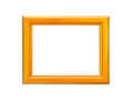 Gold Vintage picture frame on white background Royalty Free Stock Photo