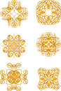 Gold vintage symbols Royalty Free Stock Photography