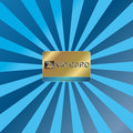 Gold vip card Stock Images