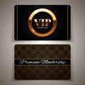 Gold VIP Cards, Vector Illustr...