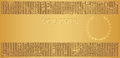 Gold Voucher (Gift certificate, Coupon ticket) Royalty Free Stock Photo