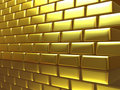 Gold wall Stock Images