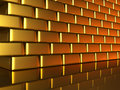 Gold wall Stock Image