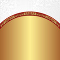 Gold wbackground white background with ornaments Royalty Free Stock Photography
