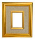 Gold wood frame with canvas Royalty Free Stock Photos