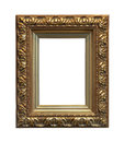 Gold wooden frame Royalty Free Stock Photos