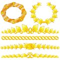 Gold wreaths and dividers Stock Photo