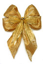 Gold Xmas Bow Royalty Free Stock Photos