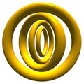 GoldCircles Royalty Free Stock Photo