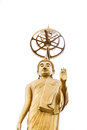 Golded buddha in buddhist temple Royalty Free Stock Photo