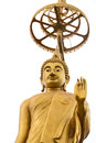 Golded buddha in buddhist temple Royalty Free Stock Images