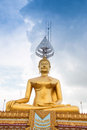 Golded buddha in buddhist temple Stock Images