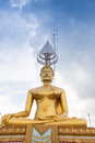 Golded buddha in buddhist temple Stock Photos