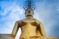 Golded buddha in buddhist temple Royalty Free Stock Image