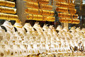 Golded jewel in a shop Royalty Free Stock Image