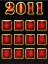 Golden 2011 calendar design Royalty Free Stock Photo