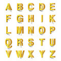 Golden abc cut out of paper Royalty Free Stock Photo