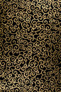 Golden abstract arabesque Royalty Free Stock Photos