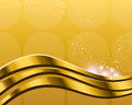 Golden abstract background an illustration of an Stock Photography