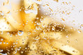 Golden Abstract Background Wit...