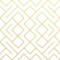 Golden abstract geometric pattern background with gold glitter texture. Vector seamless pattern or rhombus and metal line nodes me
