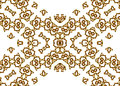 Golden Abstract Patterns on White Background Royalty Free Stock Photo