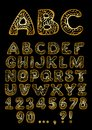 Golden Alphabet Royalty Free Stock Images