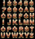 Golden alphabet Royalty Free Stock Image