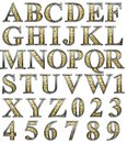 Golden alphabet Stock Photography