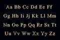 Golden alphabet on a black background Stock Photography