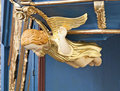 Golden angel. Interior of baroque church. Royalty Free Stock Photos