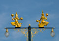 The golden angle in thai traditional style as street lamp Stock Images
