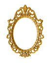 Golden antique frame isolated on white clipping path included Royalty Free Stock Image