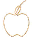 Golden Apple Chain Royalty Free Stock Photography