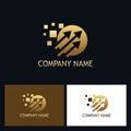 Golden arrow technology logo