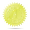Golden award emblem colorful illustration with for your design Royalty Free Stock Photo