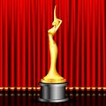 Golden Award on Stage Royalty Free Stock Image
